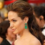 Angelina's coppery-brown pompadour was a gorgeous change for the actress at the 2009 Oscars, and her emerald drop earrings were a beautiful color complement.