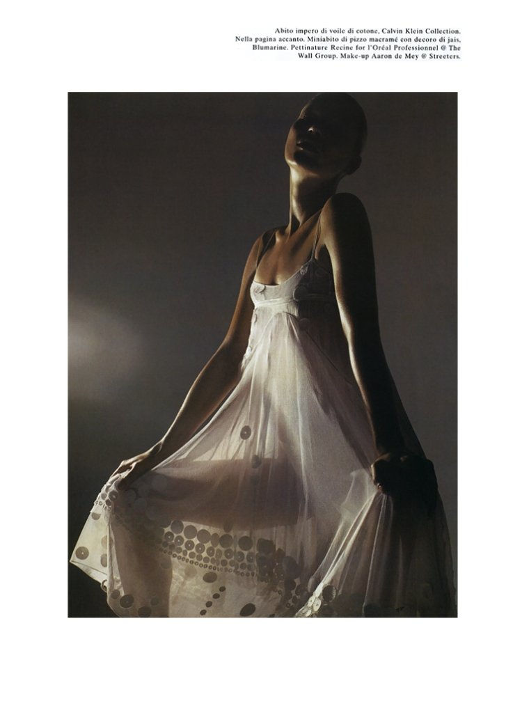 Vogue Italia March 2006, shot by Mario Sorrenti