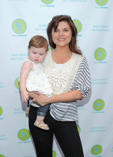 Tiffani Thiessen and Baby Harper Party Prior to a First Birthday Celebration