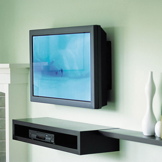 wall mounted tv alternatives popsugar tech. Black Bedroom Furniture Sets. Home Design Ideas