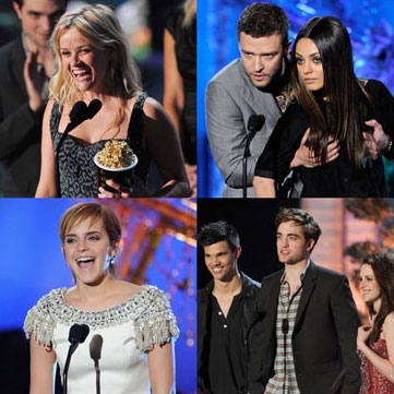 Kristen Stewart, Robert Pattinson, Reese Witherspoon Pictures at the 2011 MTV Movie Awards