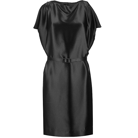 Céline Black Draped Sleeveless Dress, $1490