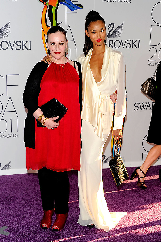 Sophie Theallet with Anais Mali in her design