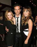 Ryan Reynolds Celebrates His Details Cover With Leading Ladies Leslie and Olivia
