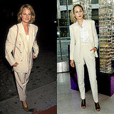 Leelee Sobieski's Cream Menswear Suit by Adam Kimmel