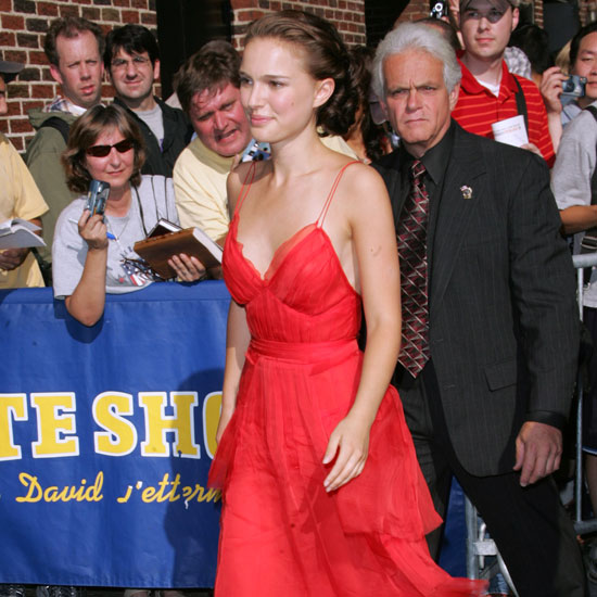 Natalie Portman was surrounded by fans on her way into the Late Show With David Letterman in 2004.