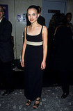Natalie Portman in a Black Sheath at the 1996 Beautiful Girls NYC Premiere