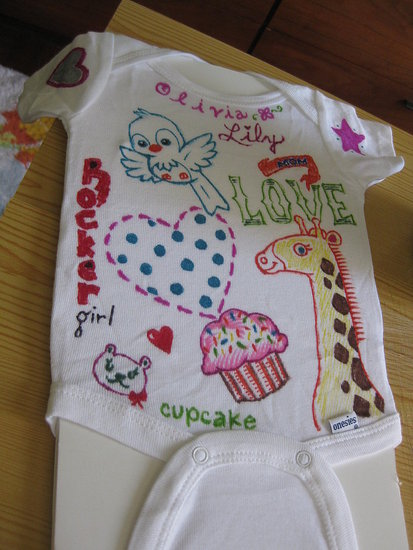 My husband and I made this onesie for Olivia Lily