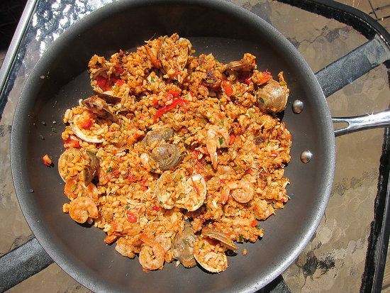 Easy Grilled Paella