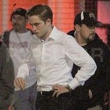 Robert Pattinson Looks Good Logging a Long Night on the Cosmopolis Set