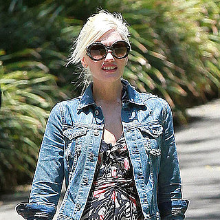 Gwen Stefani in Maxi Dress and Denim Jacket