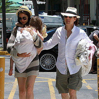 Pictures of Tom Cruise With Katie and Suri on Father's Day