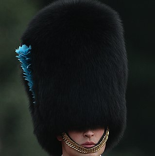 Prince William in Bear Skin Hat at Trooping the Colour