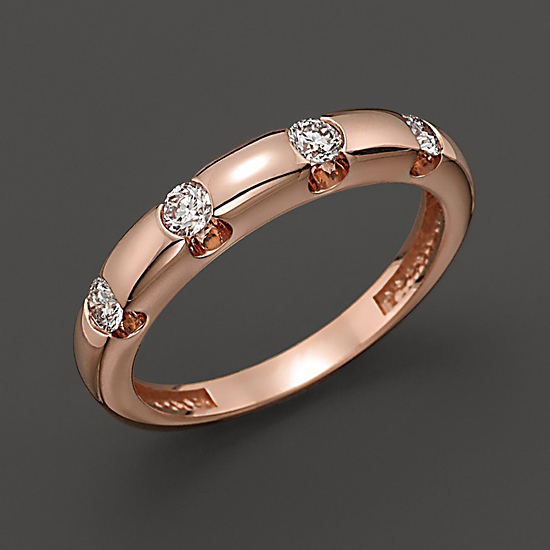 Diamond Ring in 14 Kt. Rose Gold, $1,800
