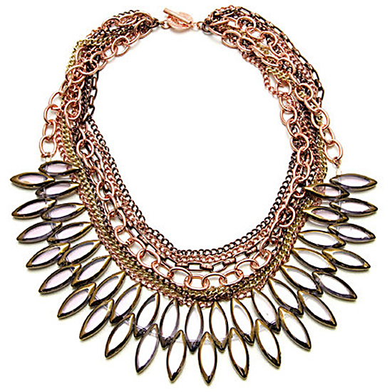 Janna Conner Mixed-Media Bib Necklace, $135