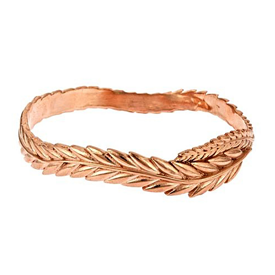 Sophia & Chloe Rose Gold Wheat Bangle, $170