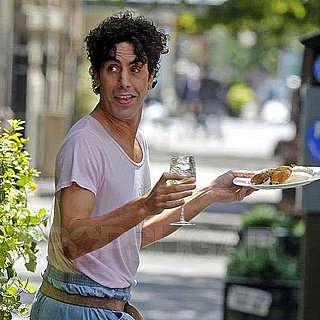 Sacha Baron Cohen on the Set of The Dictator in NYC
