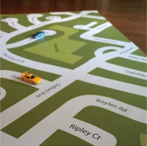 Your Neighborhood Custom Playmat ($64)