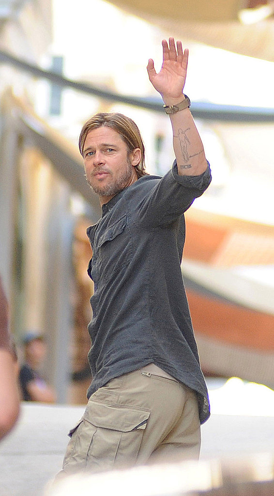 Brad Pitt, Your Number 5 in the PopSugar 100, Gets to Work on World War Z!