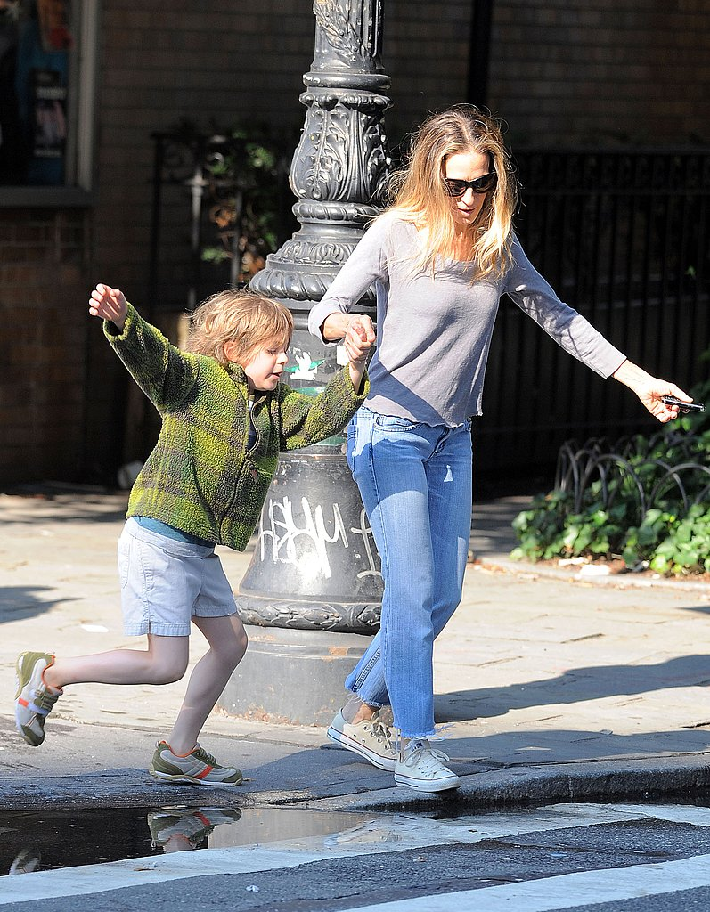 Sarah Jessica Parker Celebrates the End of the School Year With James!