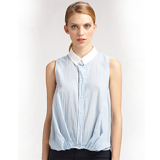 Boy by Band of Outsiders Gathered Shirt, $156