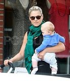 Ali Larter and Baby Theodore Explore Santa Monica Together!