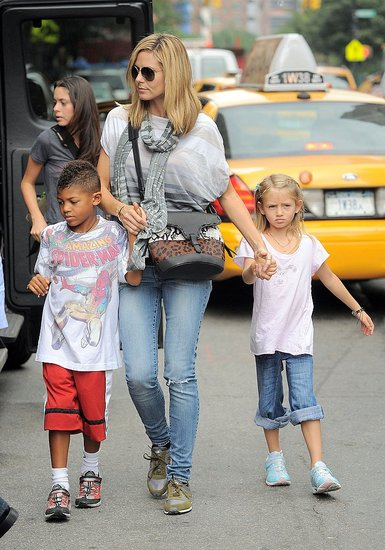 Heidi Klum Shows Her Kids Around the Big Apple but Looks Forward to Their Italian Vacation