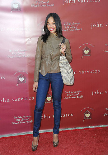 Zoe went jeans-and-heels casual for a daytime event in March 2011.