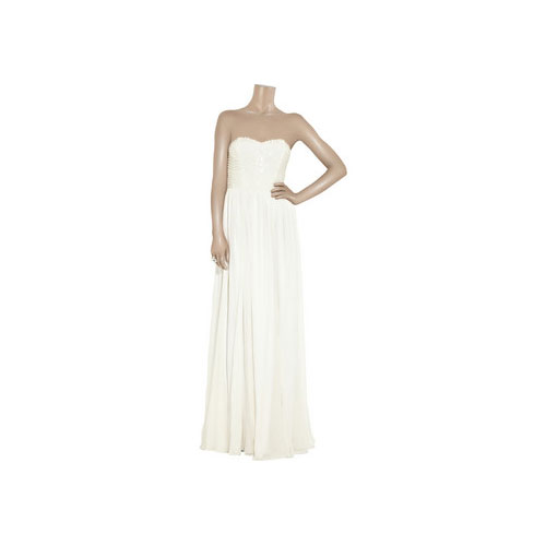 Annaliese Beaded Silk-Georgette Gown