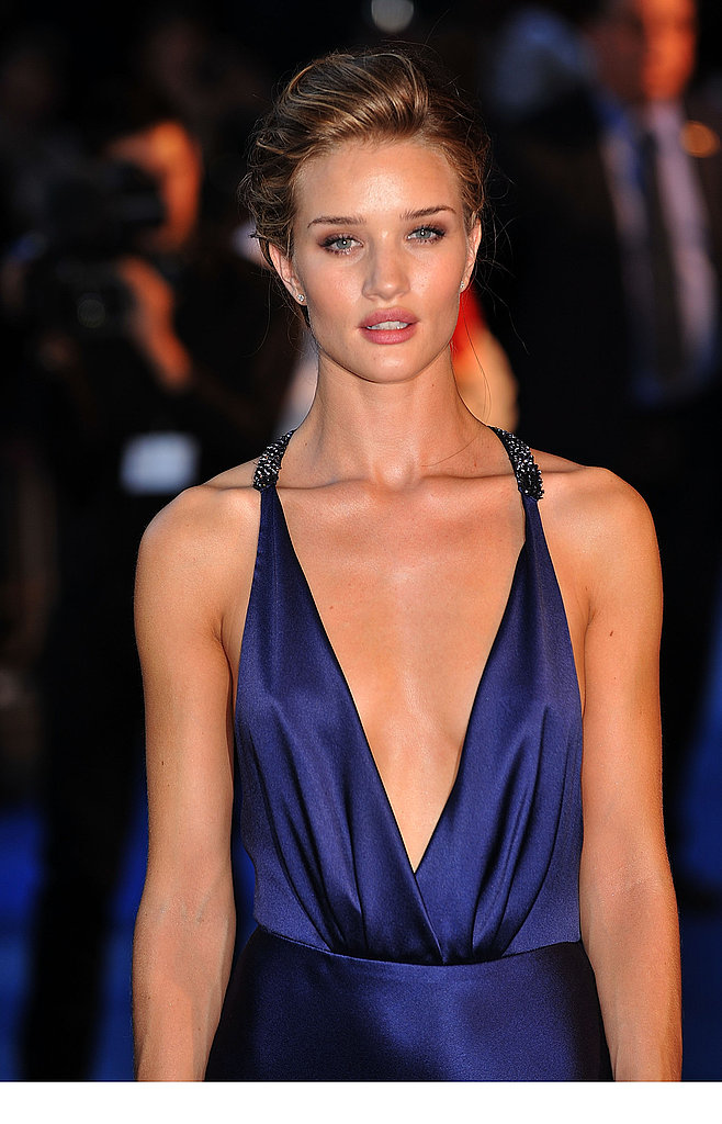 Rosie Huntington-Whiteley showing off Transformers: Dark of the Moon in Paris.