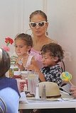 Jennifer Lopez with kids Max and Emme.