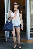 Ashley Greene Goes Short For Lunch Following an Apparent Flirt-Fest With Gerard Butler