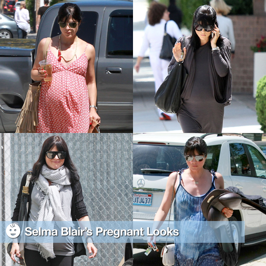 A Look at Selma Blair's Chic Casual Maternity Style
