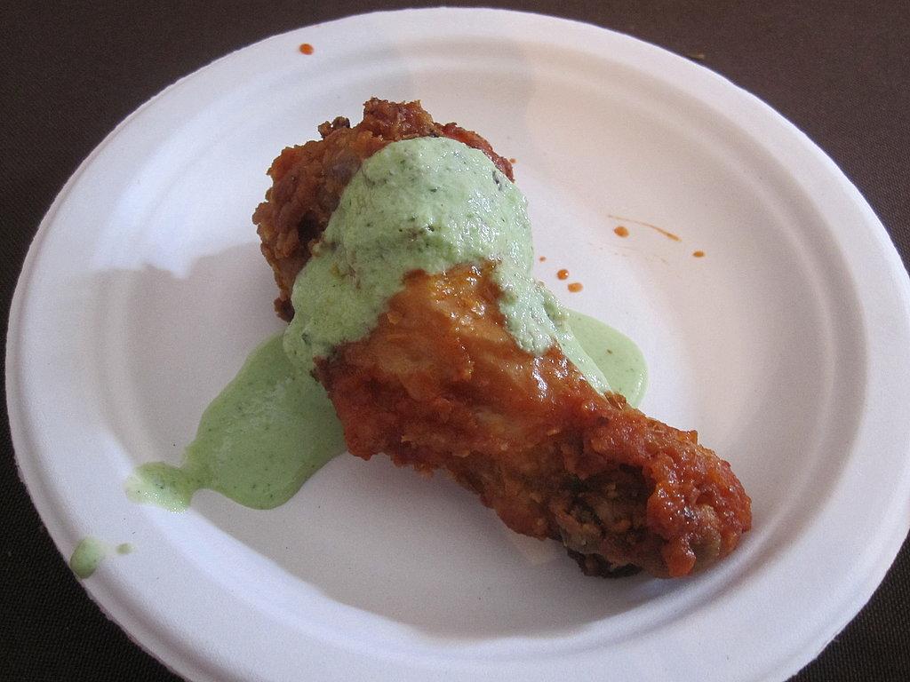 The original winner of Top Chef, Harold Dieterle, made this awesome hot wing!