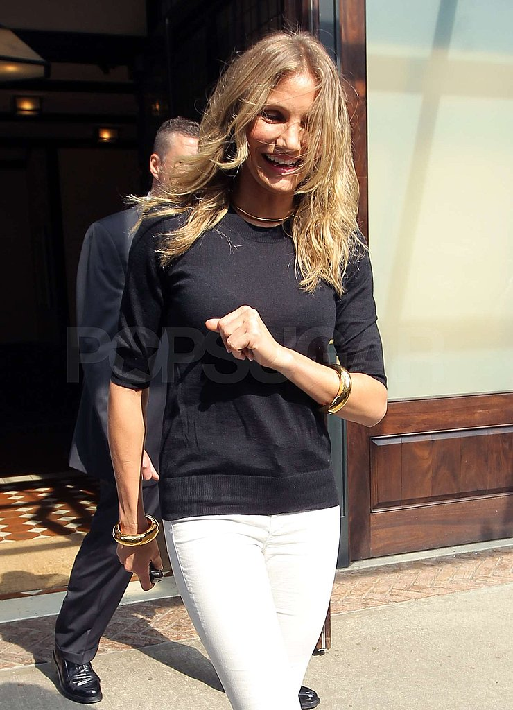 Cameron Diaz continued her Bad Teacher tour of NYC.