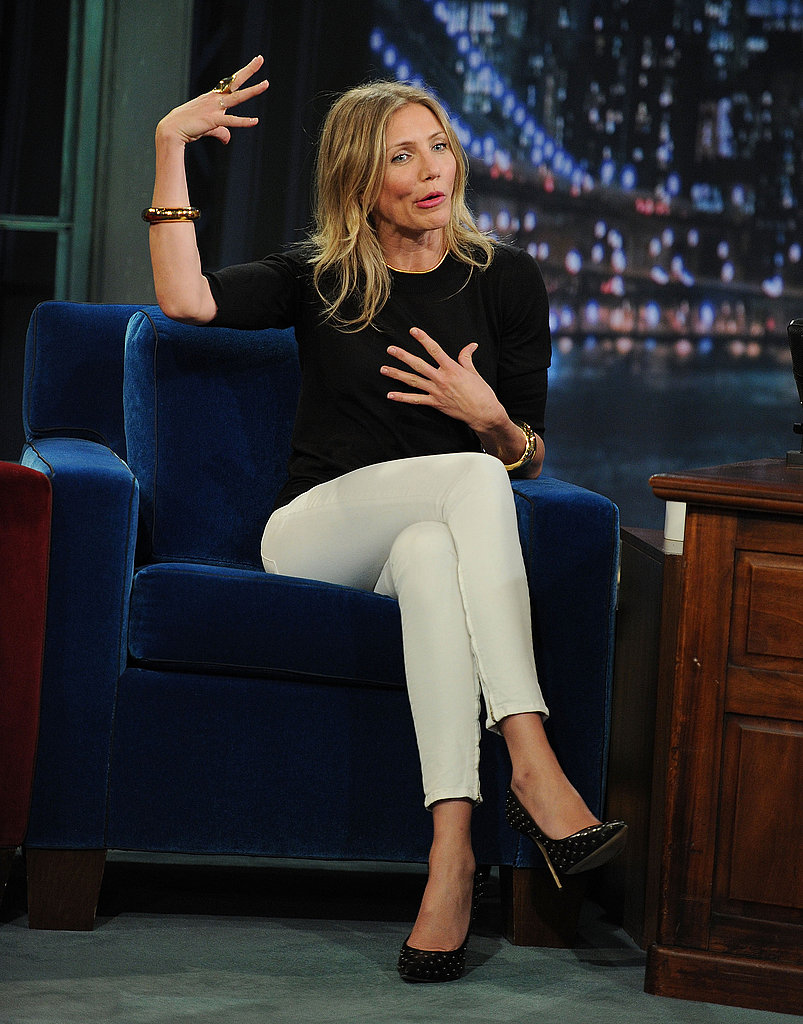 Cameron Diaz got animated as she told Jimmy Fallon a story.