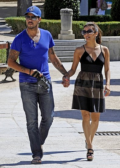 Eduardo Cruz and Eva Longoria held hands on their stroll.