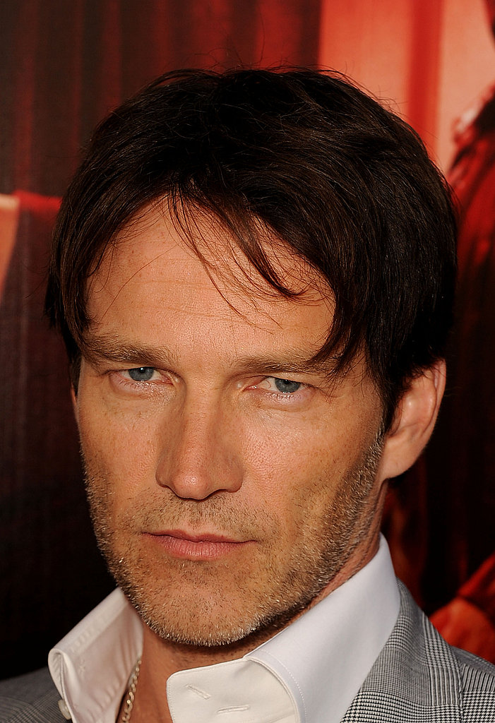 Stephen Moyer showed off his scruff as he helped his costars debut True Blood.