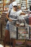 Halle Berry loaded her cart with items.