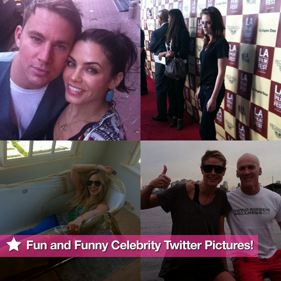 Kristen Stewart, Channing Tatum, Heidi Klum, and More in This Week's Fun and Funny Celebrity Twitter Pictures!