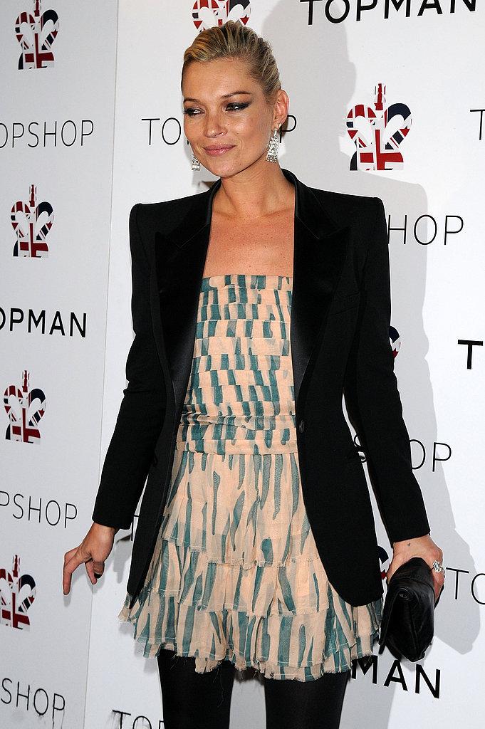 Kate Moss Wears Tuxedo Jackets