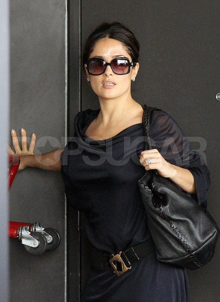 Salma Hayek without daughter Valentina Pinault in LA.