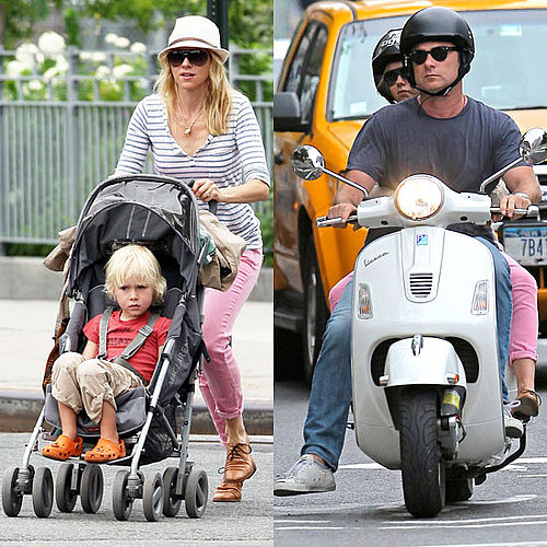 Naomi Watts Pictures in a Splendid Top With Liev Schreiber