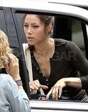 Jessica Biel got to work filming Total Recall.