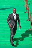 Tyrese chose a charcoal suit for the Moscow premiere.