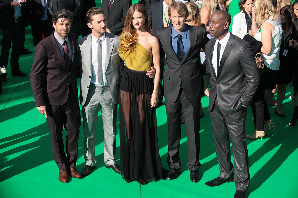 The Transformers cast reunited in Moscow for the premiere.