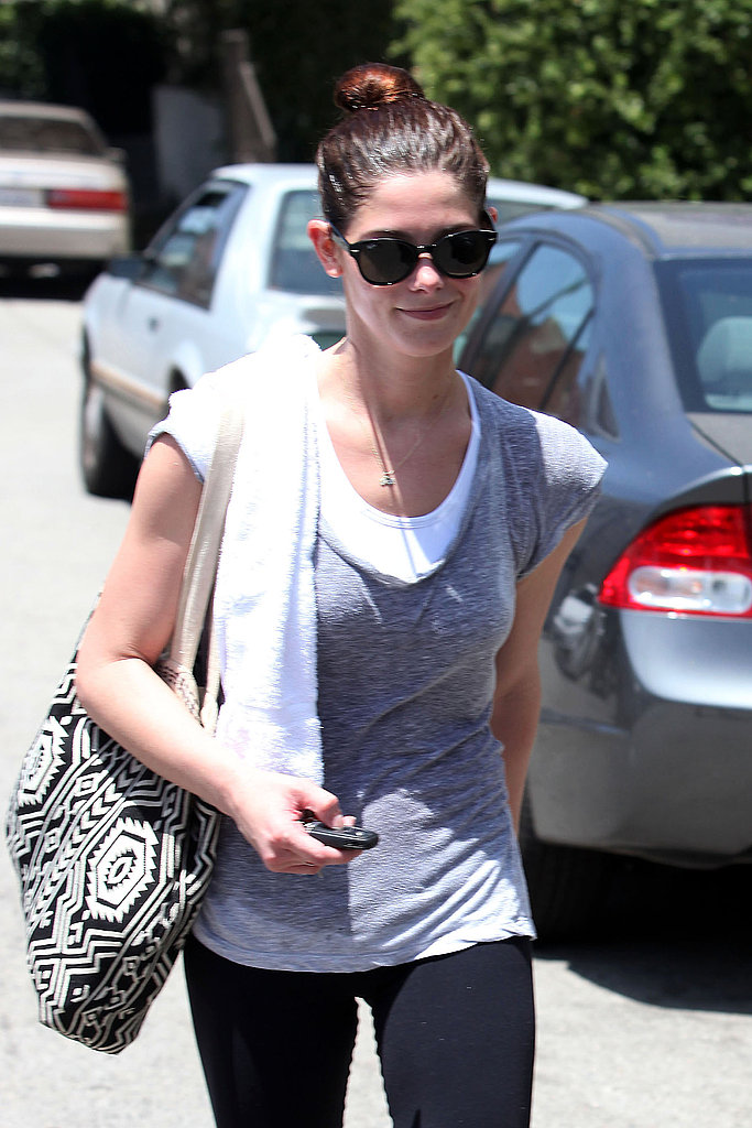 Ashley Greene flashed a smile outside the gym.