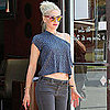Gwen Stefani Leaving Planet Nails in West Hollywood, CA