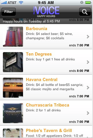Happy Hours App (Free)