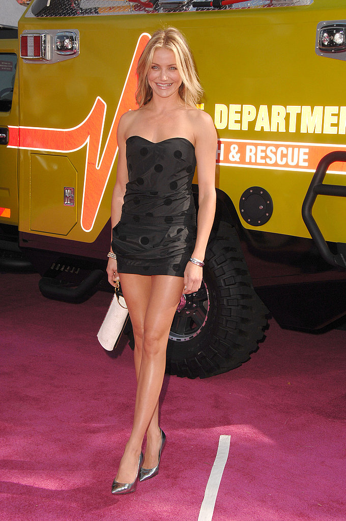 Legs for days in a revealing little black dress at the 2007 MTV Movie Awards.
